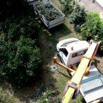 Entfernen eines Problembaumes mittels Hubsteiger Firma Palmetzhofer